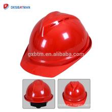 2018 nouveau design ABS / PE confortable chapeau de sécurité casque de protection réglable casque de sécurité