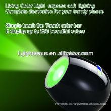 colores vivos luz con 256 colores cambio de color led luz de estado de ánimo