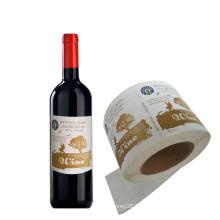 Custom Self-Adhesive Round Wine Bottle Metal Label Sticker