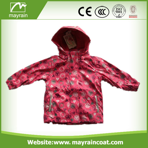 Pink Full Printing PU Raincoat