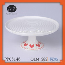 Керамическая плита с подставкой, тонкая декоративная фарфоровая обеденная тарелка, набор для торта