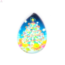 Top selling beautiful christmas trees charms,waterdrop charms