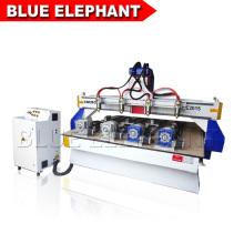 Máquinas de trituração de madeira do cnc 3d com o dispositivo 4 giratório ajustado