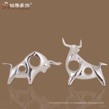 Китай корова бизнес-подарок коммерческие ремесла декоративная скульптура абстрактный корова смолы