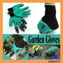 Garden Genie Gloves - Garden Gloves For Digging & Planting No More Worn Out Fingertips Unisex Claws On Right Hand