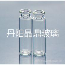 Vissé de bouteille en verre clair tubulaire baïonnette avec col haut