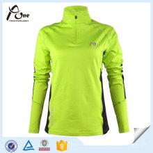 Gewohnheit Frauen Hemden Reißverschluss Pullover Langarm Sport Jersey