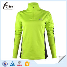 Custom Women Shirts Zipper Pullover Long Sleeve Sport Jersey