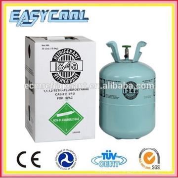 Pequeño refrigerante de gas de lata r134a para la refrigeración del automóvil y el acondicionador de aire