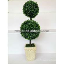Arbres artificiels décoratifs faux arbre de boule topiaire