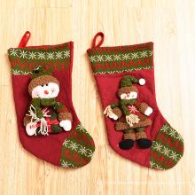 Christmas decorative snowman/milu deer/ santa clause red luck socks cartoon christmas socks for sale present for lovely kids