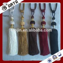 Hangzhou Taojin Textil mehrfarbig Perlen Tassel Tieback mit Mini-Troddel