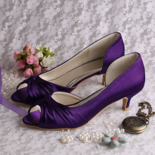 5CM Heel Purple Bridesmaid Shoes Peep Toe
