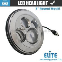 """7 """"runde LED-Scheinwerfer für Jeep-Truck-SUV mit hallo lo Strahl"""