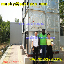 Made in China high quality 1x1m panel galvanized rectangular steel water tank