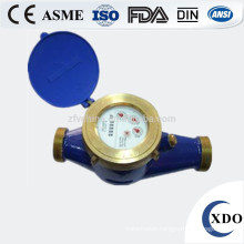 XDO-LXS-15E-50E China manufacturer Multi jet rotary wet dial cold (hot) cast iron water flow meter
