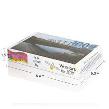Customized puzzle factory price custom printing service 1000 piece jigsaw puzzle