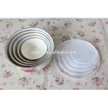 custom enamel ice bowl with PE lids & enamel coating bowl wholesale