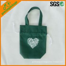 saco de embalagem mini saco de cordão de presente promocional