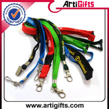 High quality hot sell printed polyester round lanyard string for underwear with butt plug