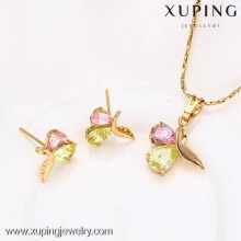 62570- Fine Jewelry Jewelry Set ,Xuping Jewelry Wholesale Imitation Earring And Pendant Sets