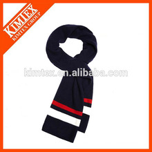 High quality crochet stripe custom knit scarves wholesale
