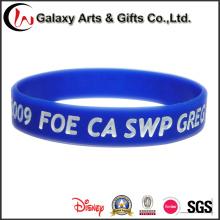 Borracha personalizada pulseiras pulseiras de Silicone com cor cheia