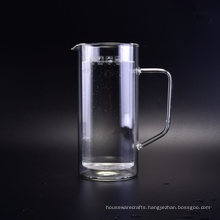 Double Wall Glass Pot with Handle
