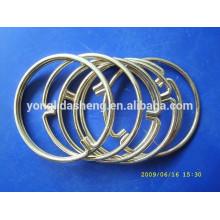 Custom high quality bag accessories metal decorative ring