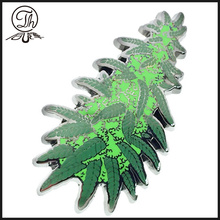 Green Christmas tree pin badges metal
