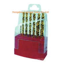 13PCS Titanium Coated HSS Twist Drill Bits Packed in Plastic Step Case