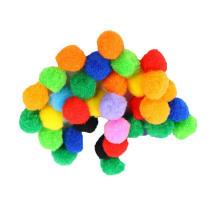 Factory direct sale 1cm-3cm colorful polypropylene pompoms ball for kids