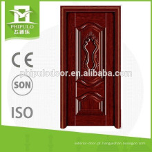 Modelos interiores da porta principal da madeira da teca e porta da madeira maciça feitos em China