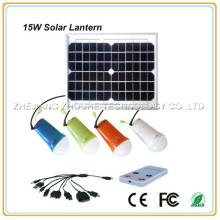 4pcs led lamp 10hrs lighting 15w solar rechargeable lantern