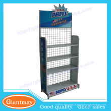 Sturdy frame practical metal motor oil products display stands/rack