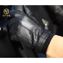 2014 neue Art große Größe schwarze Farbe Männer Schafe Leder Handschuh