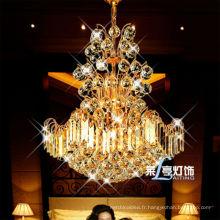 Vente chaude de luxe or pendentif couleur, design moderne suspendus lustre de lumière, petite taille mignon lustre d'éclairage