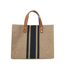 Wholesale Low MOQ Fashion Ladies Jute Handbags Tote Bags Handbag for Women