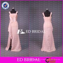 2017 ED Bridal Real Sample Cap Sleeve Ribbon Sash Split Side Longue mère de la robe de mariée fabriquée en Chine