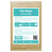 100% chá de ervas orgânicas desintoxicação chá emagrecimento chá perda de peso (impulso manhã)