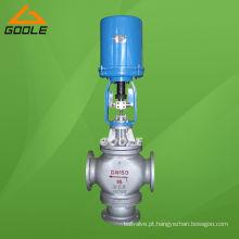 Válvula de controle de desvio de três vias (3 vias) elétrica (GAZDLX)