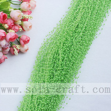 Beautiful Green Like Fruit Faux Pearl Trimming Beaded Chains