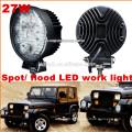 Heiße Verkäufe CE ROHS 27W Arbeitslicht geführt, SUV ATV Offroad Jeep führte Arbeitslicht