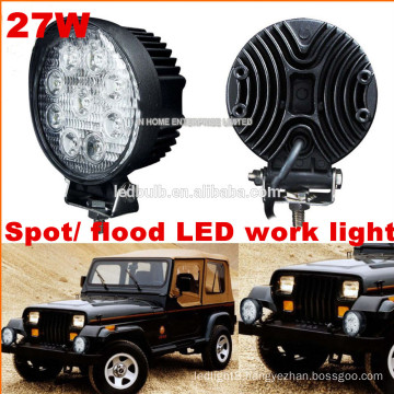 Hot sales CE ROHS 27W Work light led, SUV ATV Offroad Jeep Led Work Light