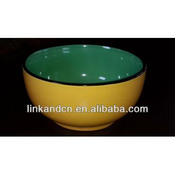 KC-00575 tazón de porcelana de color sólido