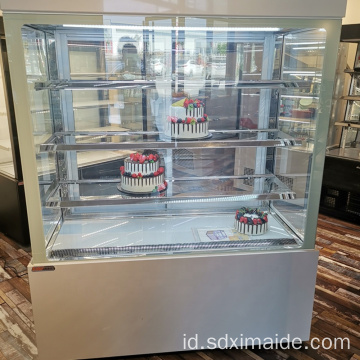 Display Kue Bakery Tunggal Chiller Kaca Menampilkan