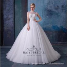 Бисера высокая шея свадебное платье свадебные платья