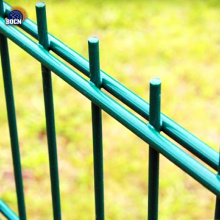 PVC Coated Green Garden Metal Double Wire Fence