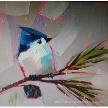 Pintura al óleo abstracta del pájaro