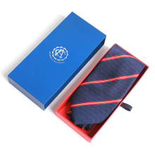 Nuevas llegadas 2018 Custom Print Drawer Gift Silk Jacquard Neck Tie Packaging